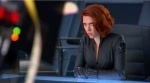 Black Widow (Scarlett Johansson) looking worried. I hope it's not over those pics...