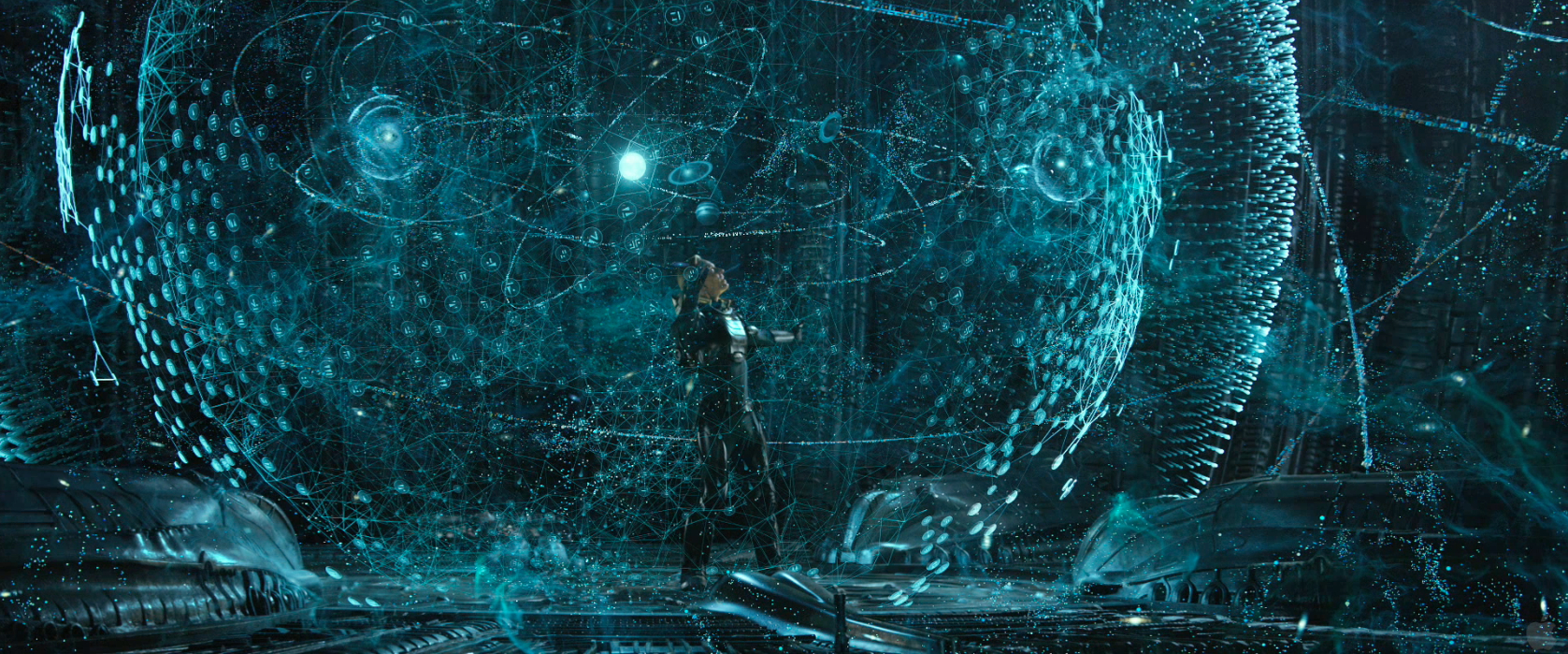 Prometheus movie Holograms by the alien spaceship computer ...